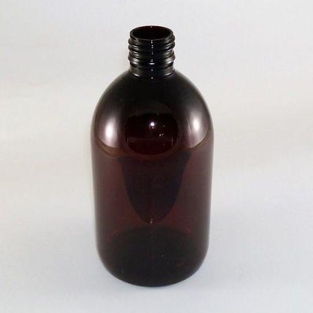 Botella de 500ml Plastico Pet Ambar