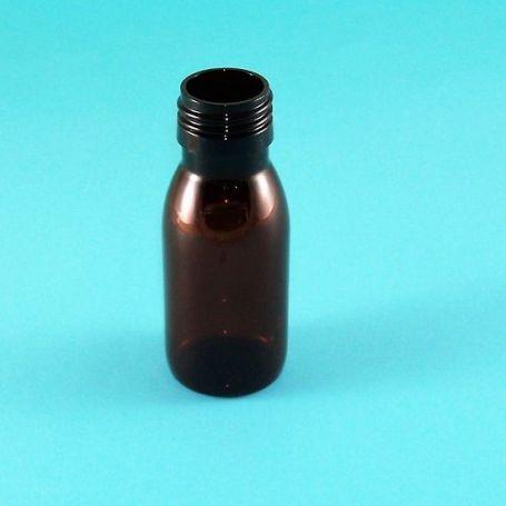 Botella de 60ml de Plástico Pet Ámbar