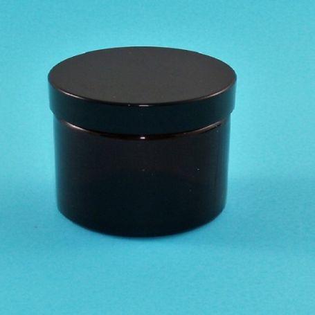 Tarro 50ml de vidrio ámbar con tapa negra rosca