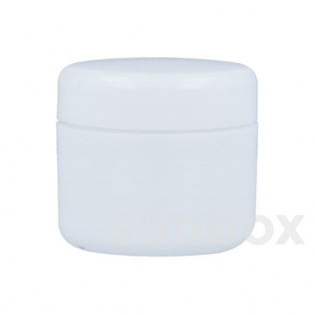 5ml Tarro Blanco con Tapón rosca blanco