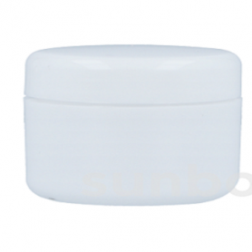Tarro 20ml Blanco con tapón rosca blanco