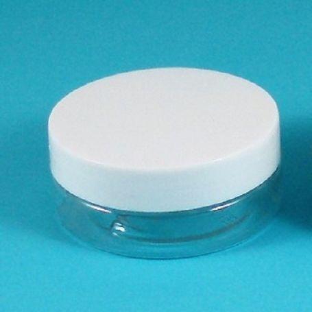 Tarro translucido de 50ml Tapa blanca